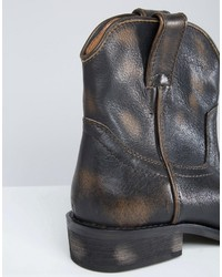 8580327a0d7 Mango Leather Western Ankle Boot, $129 | Asos | Lookastic.com