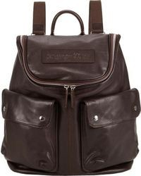 Dark Brown Leather Backpack