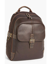 Boconi Leather Backpack Brown One Size