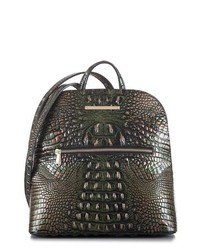 Brahmin Felicity Croc Embossed Leather Backpack