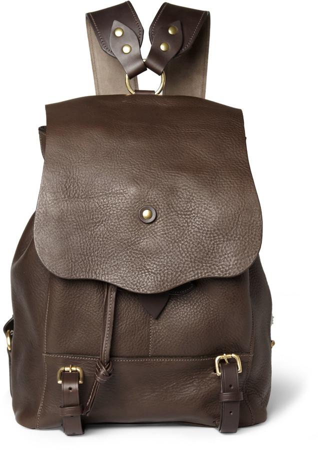 6cf3cec5ac Bill Amberg Hunter Full Grain Leather Backpack