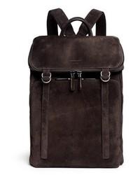 Giorgio Armani Leather Back Suede Backpack