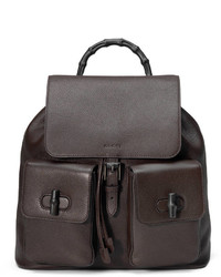 Men s Dark Brown Backpacks by Gucci   Men s Fashion   Lookastic.com e3b304f99c1