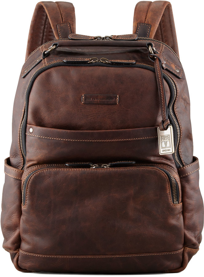 e554883fea ... Frye Logan Leather Backpack ...