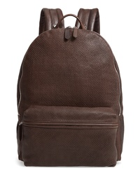 Eleventy Perforated Leather Backpack
