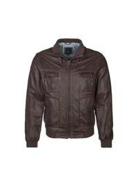 Daniel hechter leather jacket brown medium 86577