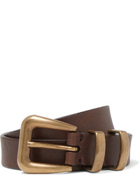 Brunello Cucinelli 25cm Brown Leather Belt