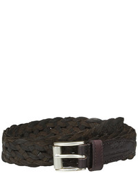 John Varvatos 25mm Roller Harness Braided Leather Belt