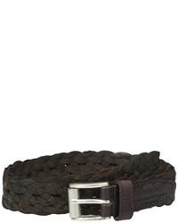 John Varvatos 25mm Roller Harness Braided Leather Belt