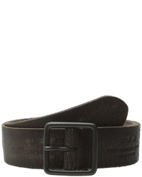 John Varvatos 38mm Burnished Veg Tanned Leather Belt