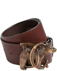 Dsquared2 40mm Dd Bear Buckle Leather Belt