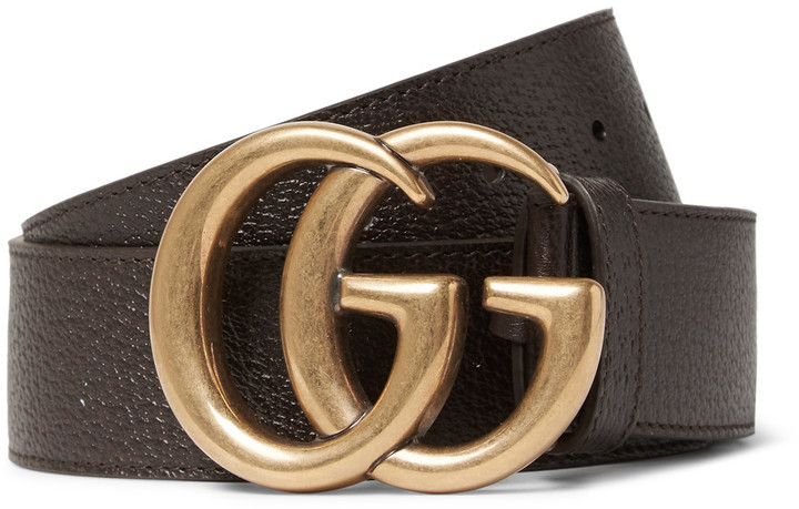 16beda50bf7 ... Dark Brown Leather Belts Gucci 4cm Brown Leather Belt ...