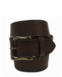 Andrew Marc Ny Brown Embossed Leather Belt