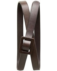 Banana Republic Leather Buckle Skinny Belt