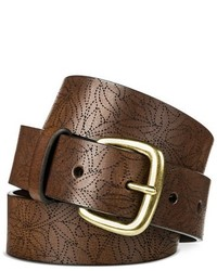 Belt Dark Brown With Laser Pattern Merona