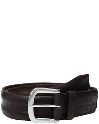 John Varvatos Boarded And Washed Leather Strap Belt With Buckle Belts
