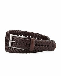 Neiman Marcus Braided Leather Belt