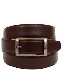 Brand Q Solid Brown Adjustable Leather Belt