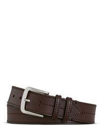 Shinola Bridle Center Stitch Leather Belt