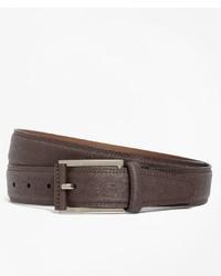 Brooks Brothers Saffiano Leather Belt