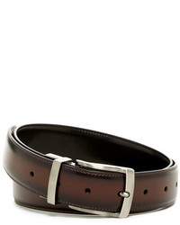 Original Penguin Burnished Edge Reversible Leather Belt