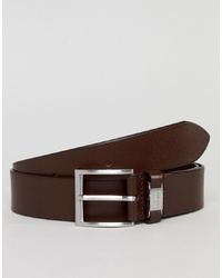 BOSS Connio Leather Logo Keeper Belt In Brown