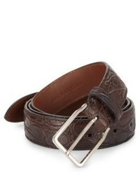 Brunello Cucinelli Croc Embossed Leather Belt