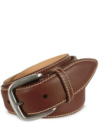 Manieri Dark Brown Smooth Leather Belt