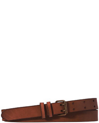 Joe Fresh Double Band Leather Belt Dark Brown