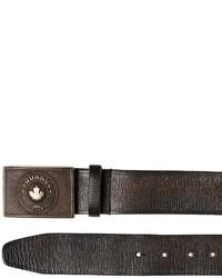 DSQUARED2 40mm Logo Vintage Effect Leather Belt