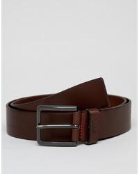 Hugo Gionio Leather Belt In Brown