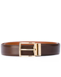 Santoni Gold Tone Buckle Belt