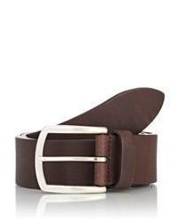 Barneys New York Grained Leather Belt Brown