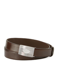 Brunello Cucinelli Grained Leather Buckle Belt