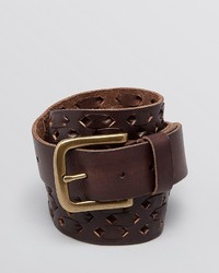 John Varvatos Laced Leather Belt