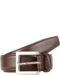 Barneys New York Leather Belt Brown