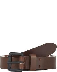 Barneys New York Leather Belt Brown