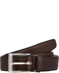 Barneys New York Leather Belt Dark Brown Size 42