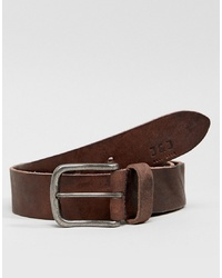 Jack & Jones Leather Belt With Vintage