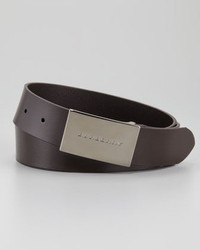 Burberry Logo Buckle Belt Chocolate