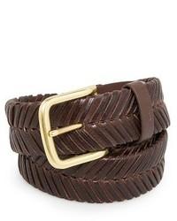Mango Leather Herringbone Belt
