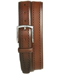 Allen Edmonds Manistee Brogue Leather Belt