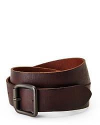 Andrew Marc Marc New York Dark Brown High Roller Leather Belt