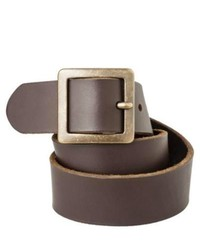 Mossimo Supply Co. Genuine Leather Pilgrim Belt Brown M