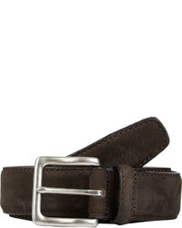 Barneys New York Nubuck Belt Dark Brown Size 30