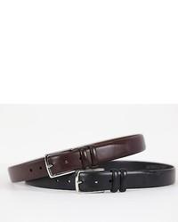 Polo Ralph Lauren Pony Genuine Leather Square Buckle Belt Blackdark Brown