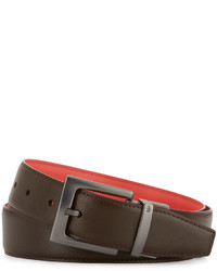 Original Penguin Reversible Dress Belt Delicioso Brown