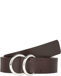 Barneys New York Smooth Leather Belt