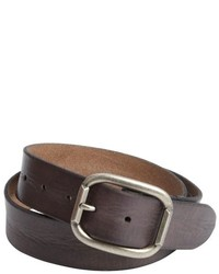 John Varvatos Star Usa Dark Brown Antique Silvertone Buckle Classic Belt