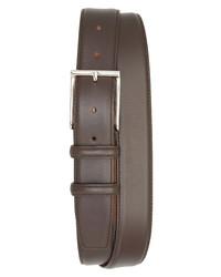 Santoni Vitello 3 Leather Belt